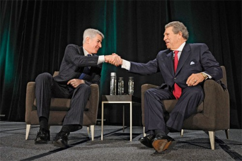 Bill Ackman and Hunter Harrison